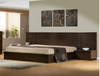KING DALOON BED WITH 2 UNDER BED SIDE STORAGE DRAWERS (MODEL 4-1- 22-9-14-3-9) - WALNUT