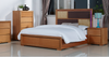 DUAS (614) KING  4 PIECE TALLBOY BEDROOM SUITE WITH  LED LIGHTS ON BEDHEAD  (MODEL 1-21-4-18-5-25) - MAPLE