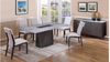 CAPE (9003)   7 PIECE DINING SETTING WITH 6 CHAIRS - 1800(L) TABLE (MODEL-12-25-15-14) -GREY