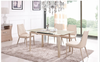 COMBO (9015)  EXTENDABLE DINING  TABLE 1200 - 1450(L) X 800(W)  - (MODEL-2-112-12-1) - KHAKI / WHITE