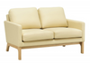 COVE TWIN (2) SEATER   LEATHERETTE SOFA CHAIR - CREAM