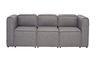 ACURA THREE (3)  SEATER   FABRIC  LOUNGE- PEBBLE
