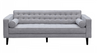 AIDEN   3 + 2 SEATER  RETRO FABRIC  LOUNGE SUITE WITH CUSHIONS - (  KIT#100A) -LIGHT  GREY