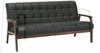 TUCSON   THREE (3)  SEATER  SCANDINAVIAN  LEATHERETTE   LOUNGE -ESPRESSO