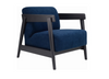 DAEWOOD FABRIC ARM CHAIR  - MIDNIGHT BLUE