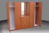 REXY (AUSSIE MADE) 3 PIECE COMBO WARDROBE (3PCE500D) EXTRA DEPTH WITH METAL RUNNERS - 1800(H) X 1400(W) -  ASSORTED COLOURS