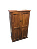 CRYSTAL SHOE CABINET WITH T&G / LINING BOARD DOORS - 1500(H) X 900(W) - ASSORTED COLOURS