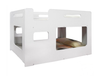 SINGLE DRAGGLE LOWLINE BUNK BED (MODEL 16-12-1-25-16-4-14) - WHITE