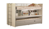SINGLE LADDEN BUNK BED (MODEL 20-18-9-12-15-7-25) - WHITE / SILVER