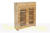 BANDY SHOE CABINET (MODEL:400D) WITH 2 LATTICE DOORS / 2 DRAWERS - 1200(H) x 900(W) - ASSORTED COLOURS