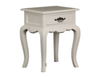 FRENCH PROVINCIAL  LAMP TABLE WITH ONE DRAWER 500(W) - WHITE