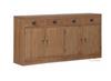 VIENNA 4 DOOR 4DRAWER BUFFET -SB 404 VIE  - 900(H) X 1820(W) - NATURAL TEAK