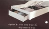 QUEEN   MOCALE  BED WITH  SIDES /  BEDEND DRAWER AND LED LIGHT  (MODEL3-8-9-3-1-7-15) - HIGH GLOSS  WHITE