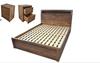 VICTORIA KING 3 PIECE BEDSIDE BEDROOM SUITE  - WITH BAILEE CASEGOODS - ANTIQUE OAK