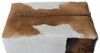 RHYNO GOAT HIDE UPHOLSTERED OTTOMAN - SMALL-450(H) X 800(W) - MAHOGANY