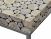 IBERIA DRIFTWOOD AND STAINLESS STEEL NEST TABLE - NATURAL/SILVER