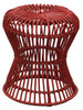 PRECIOUS HOURGLASS WOVEN RATTAN STOOL - WHITE OR RED