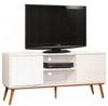 RETRO TV ENTERTAINMENT UNIT WITH 2 DOORS - 580(H) x 1400(W)- MATTE WHITE