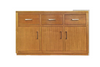 NOVA BUFFETT WITH 3 DOORS 3 DRAWERS  -  870(H) X 1600(W) - COLOR AS PICTURED