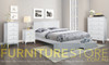 MAGNIFICENT DOUBLE 3 PIECE (BEDSIDE) BEDROOM SUITE - BRIGHT SATIN WHITE