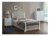 KING SINGLE CHESTER BED - WHITE