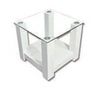 WINNIE LAMP / SIDE TABLE - 435(H) x 600(W) x 600(D) - HIGH GLOSS WHITE