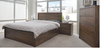 ALICIA QUEEN 4  PIECE TALLBOY BEDROOM SUITE  - WITH BAILEE/CASEY CASEGOODS - ANTIQUE OAK