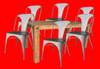 CITY 7 PIECE DINING SET1800 (L) x 1000(W)TABLE  - SMOKE BROWN
