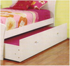 SINGLE HEART BED FRAME WITH SINGLE TRUNDLE - SNOW