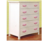 HEART 5 DRAWER TALLBOY - SNOW