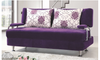 GLEE (MODEL-30250) 3 SEATER FABRIC CLICK CLACK SOFA BED - ASSORTED COLOURS