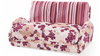 GIRLIE   (MODEL-3072) 2 SEATER FABRIC CLICK CLACK SOFA BED - ASSORTED COLOURS
