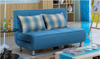 HUNTER (MODEL-3081) 3 SEATER FABRIC CLICK CLACK SOFA BED - ASSORTED COLOURS