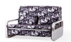 VERONICA   3 SEATER FABRIC CLICK CLACK SOFA BED - ASSORTED COLOURS