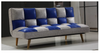 GLAMOUR MODEL-4137) 3 SEATER FABRIC CLICK CLACK SOFA BED - ASSORTED COLOURS