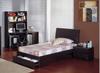 JIGSAW (M-24)  KING SINGLE 4 PIECE (STUDY DESK) BEDROOM SUITE -  WALNUT