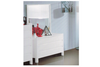 NEW YORK  DOUBLE OR  QUEEN 5   PIECE (DRESSER) BEDROOM SUITE  - (MODEL:32)- HI GLOSS WHITE