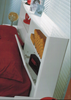 NEW YORK  DOUBLE OR  QUEEN 5   PIECE (DRESSER) BEDROOM SUITE  - (MODEL:32)- HI GLOSS WHITE