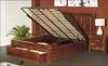 MANCHESTER QUEEN 3  PIECE (BEDSIDE) BEDROOM SUITE  - (MODEL:50)- ASH WALNUT