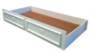 KING SINGLE TEENAGE TRUNDLE BED ONLY (WITH MOULDED HANDLES) - WHITE