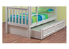 SINGLE TEENAGE TRUNDLE BED ONLY (WITH MOULDED HANDLES) - ARCTIC WHITE