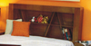 DOUBLE MILAN BOOKEND BED HEAD ONLY - ASH