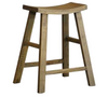 SHINTO BARSTOOL - 650(H) - RUSTIC ELM OR ANTIQUE WHITE & ELM