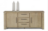 INTRO 2 DOORS, 3 DRAWERS SIDEBOARD-  850(H) X 2000(W) - CARAMEL