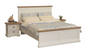 HAMPTONS QUEEN 3 PIECE  BEDSIDE BEDROOM SUITE - WHITE & BLONDE