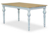 FRENCH PROVINCIAL RECTANGULAR DINING TABLE 1500(L) X  850(W) - ANTIQUE WHITE & OAK