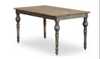 FRENCH PROVINCIAL RECTANGULAR DINING TABLE 1500(L) X 850(W) - RUSTIC ELM