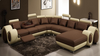 ANALINE LEATHERETTE CORNER LOUNGE WITH CHAISE SUITE - AS PICTURED