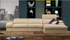 NORWOOD LEATHERETTE 3 SEATER + LHS/RHS CHAISE - AS PICTURED
