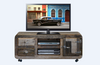 DETRIOT 1350(L) ENTERTAINMENT UNIT WITH 2 DRAWER AND DOOR - DISTRESSED MULTI